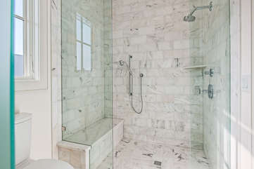 Master Bathroom walk in shower.