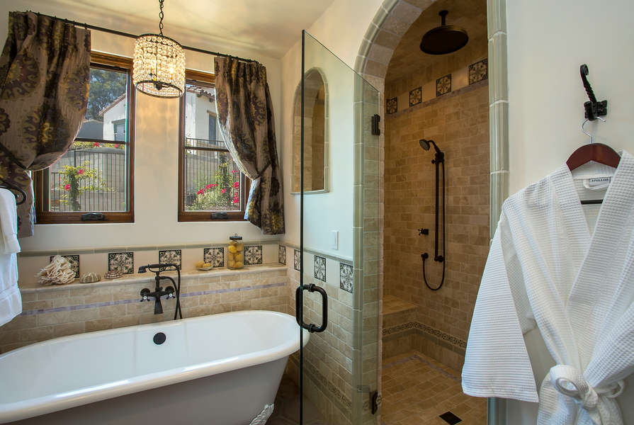 Spacious walk-in shower in Master Bathroom
