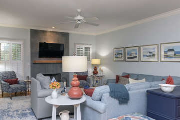 Enjoy quiet conversation with your guests in this lovely room.