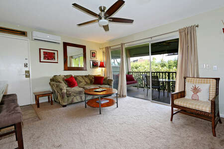 Condo 10 Living Room ~ Kihei Kai Maui Vacation Rental