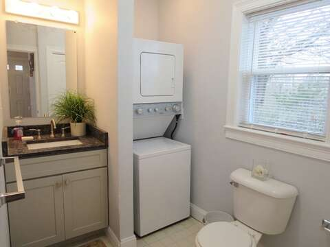 Main floor half bathroom (washer and dryer) - 11 Oyster Drive Chatham Cape Cod New England Vacation Rentals