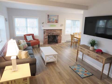 Welcome to Sandy Paws-Open living area with flat screen TV and WIFI - 11 Oyster Drive Chatham Cape Cod New England Vacation Rentals