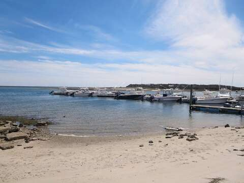 Little beach at Outer Most Harbor at high tide just across the street-Chatham Cape Cod New England Vacation Rentals