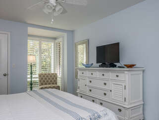 Natural light brightens the room