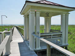 Gazebo off private boardwalk