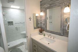Bathroom fully remodeled and upscale