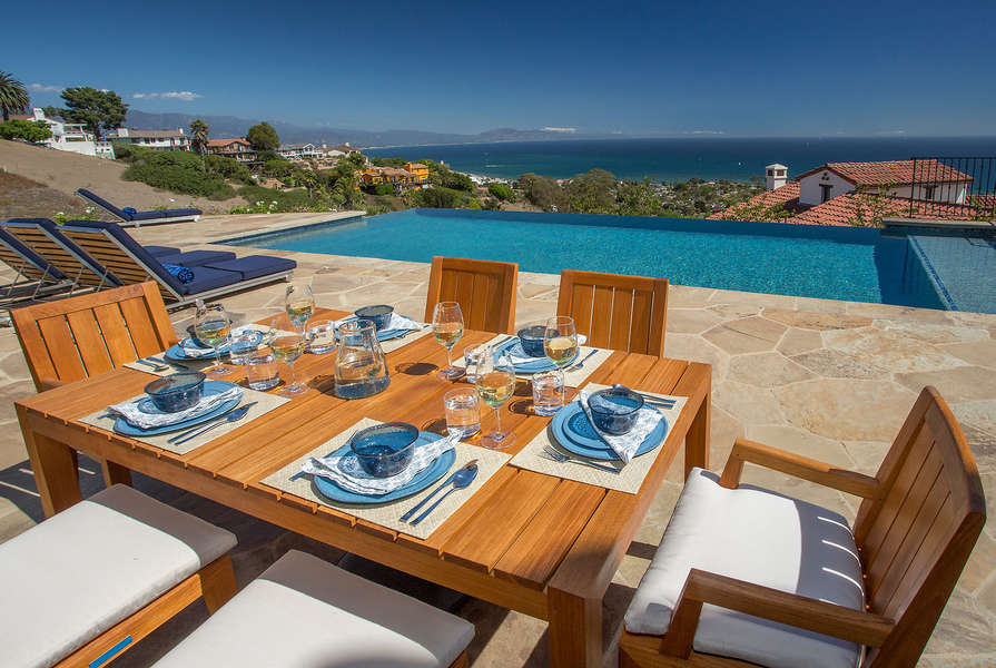 Dine by the pool (some outdoor furniture has been changed)