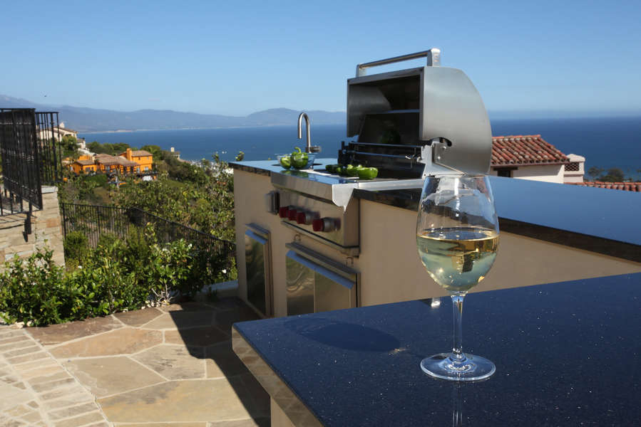 Grill master will enjoy the view while cooking