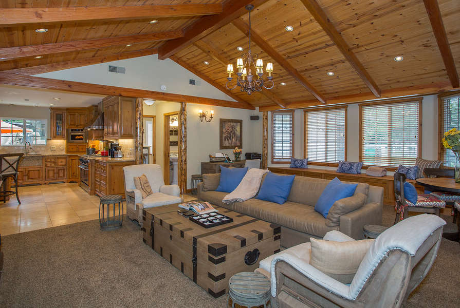 Soaring ceilings in the Family Room