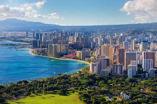 Waikiki from Diamond Head