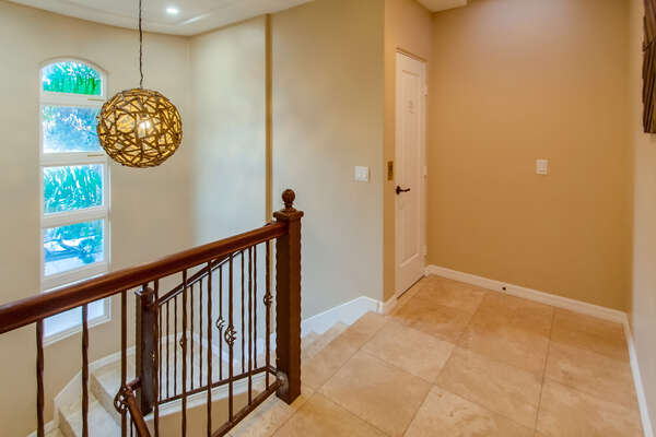 Downstairs to the bedrooms