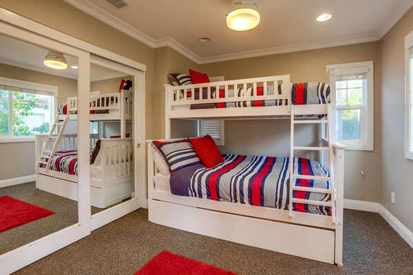 Bunk Room, Full/Twin Bunk with Twin Trundle - First Floor