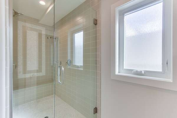 Spacious shower