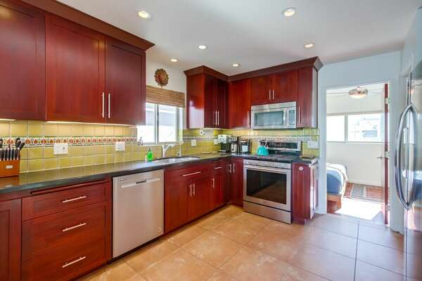 Kitchen - Fully Stocked! Second Floor