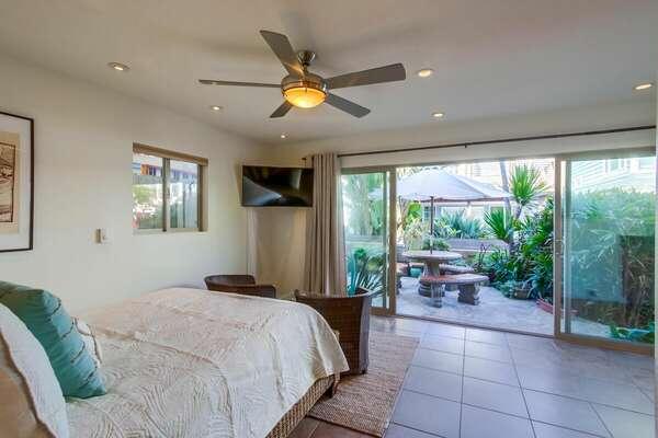 Ground Floor Bedroom Suite, Opens to Patio