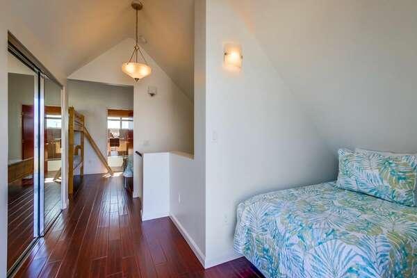 Third Floor - Twin Bed (1 Queen + 3 Twins Total!)