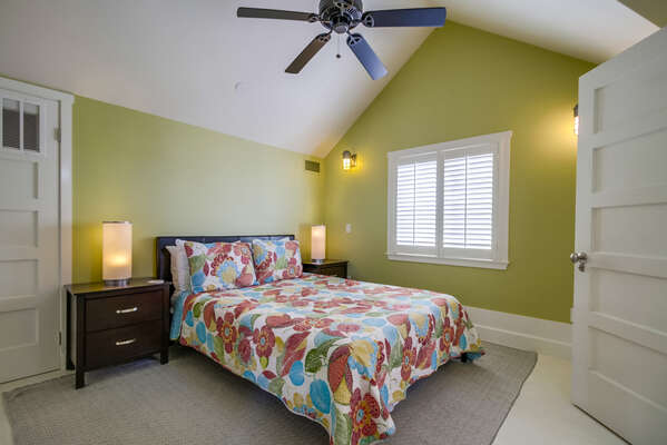 Master bedroom with Queen bed, ensuite bathroom