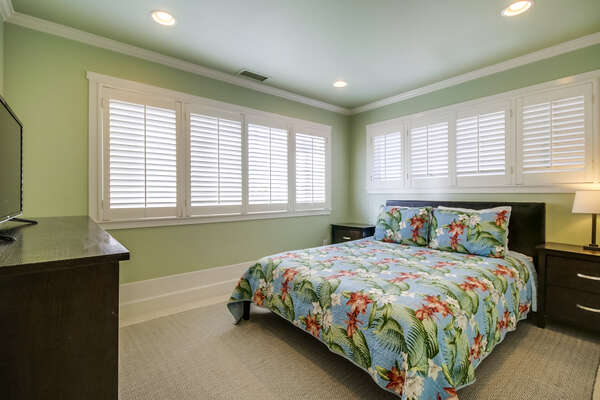 Bedroom one with Queen bed