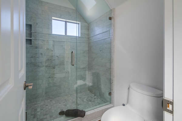Master bathroom with tub