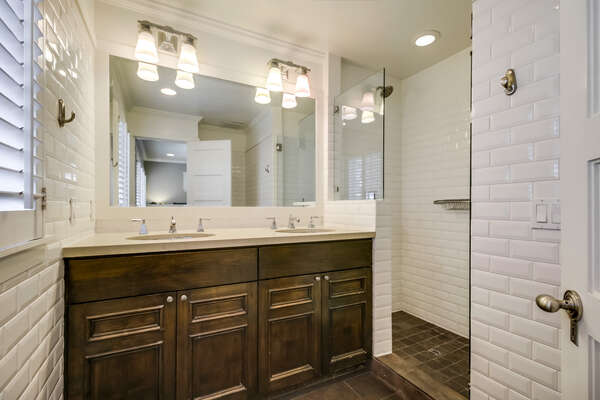 Ensuite Master bathroom in lower unit