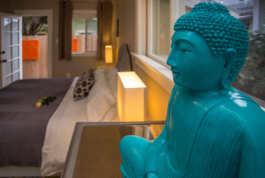 A zen-like experience in the Master Bedroom