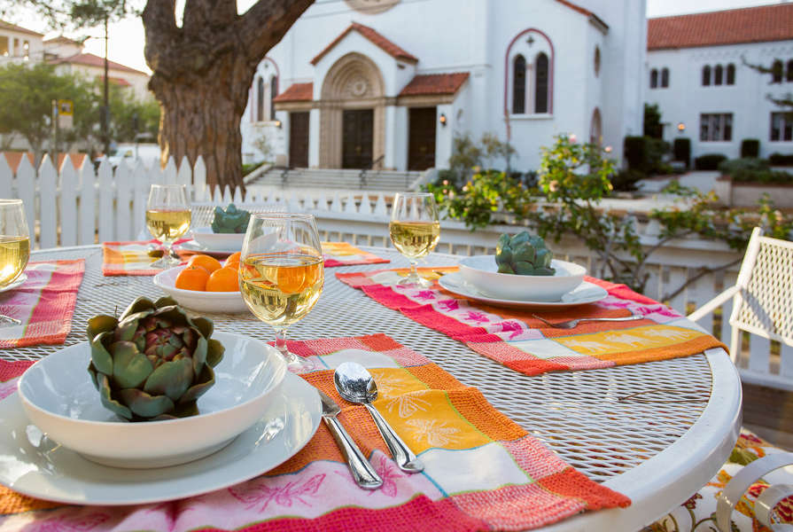 Dine outside and enjoy the local scene