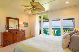 Bedroom #2 opens to the balcony and has a lovely ocean view