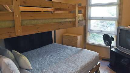 Bunk room with twin over full bunkbed
