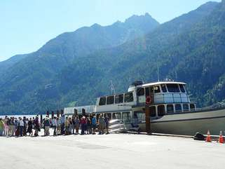 Lady of the Lake ferry on Lake Chelan transports passengers to and from Stehekin