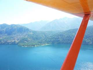 View of Lake Chelan from seaplane - an excellent way to get to Stehekin!