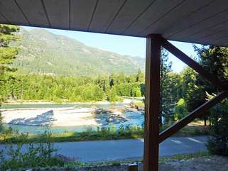 View of Stehekin River from the cabin