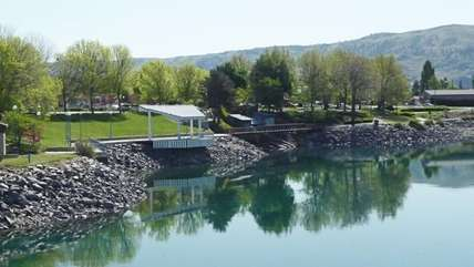 Chelan Riverwalk Park - one entrance to the park is just across the street!