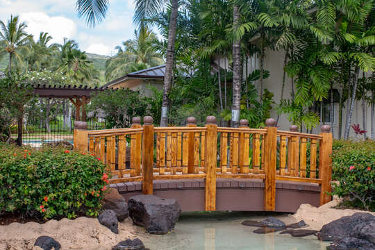 Main Pool Entrance at Coconut Plantation