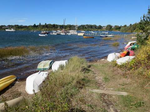 A perfect spot on Mill Pond to launch your kayak or canoe! Chatham Cape Cod New England Vacation Rentals