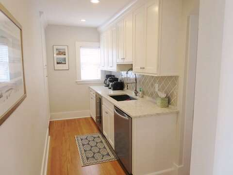 Pantry with wine and beer frig-388 Main St-Chatham Cape Cod New England Vacation Rentals