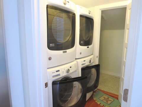 2 washer -dryers and half bath off of kitchen on 1st floor - 388 Main Street (The Priscilla House) Chatham Cape Cod New England Vacation Rentals