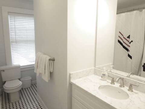 2nd floor bath - tub and shower -   388 Main St-Chatham Cape Cod New England Vacation Rentals