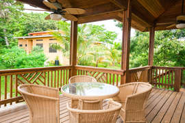 2nd floor deck area with tropical view