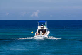 Charter a boat and spend the day fishing or snorkeling