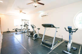 The on-site gym