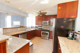 The kitchen is fully modern and well equipped.