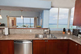 View from our kitchen is of the ocean.  Almost makes doing the dishes fun.