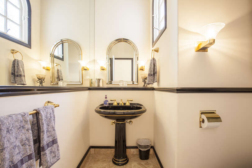 Easy access to the main level powder room
