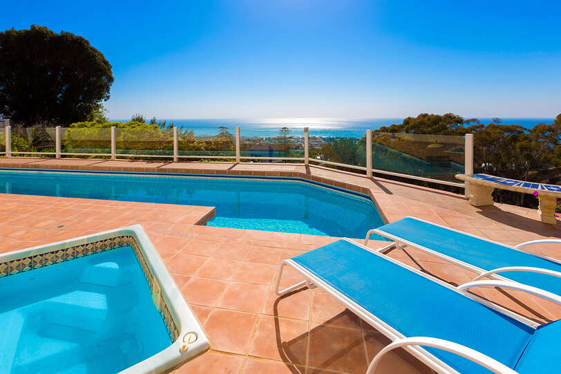 Hot Tub and heated pool with expansive ocean views for your pleasure