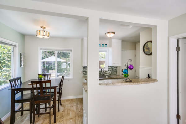 Cozy kitchen and dining room