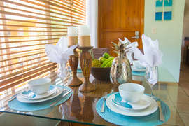 Well stocked with linens and tableware for your stay