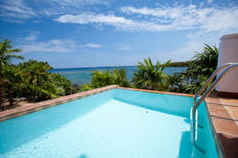 Ocean front plunge pool perfect for when you want to cook off