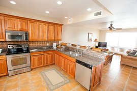 Huge kitchen living area make it a great house for gathering