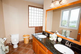 The master ensuite bathroom