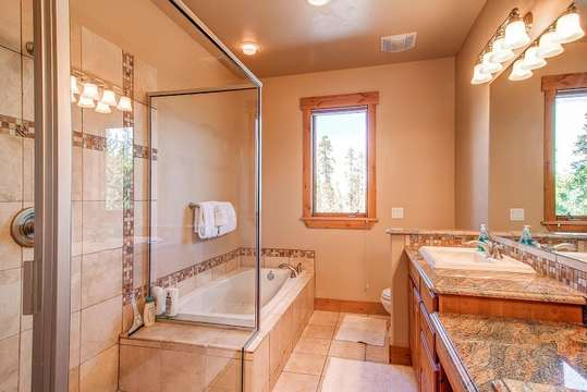 Soaking tub in luxurious Master bath